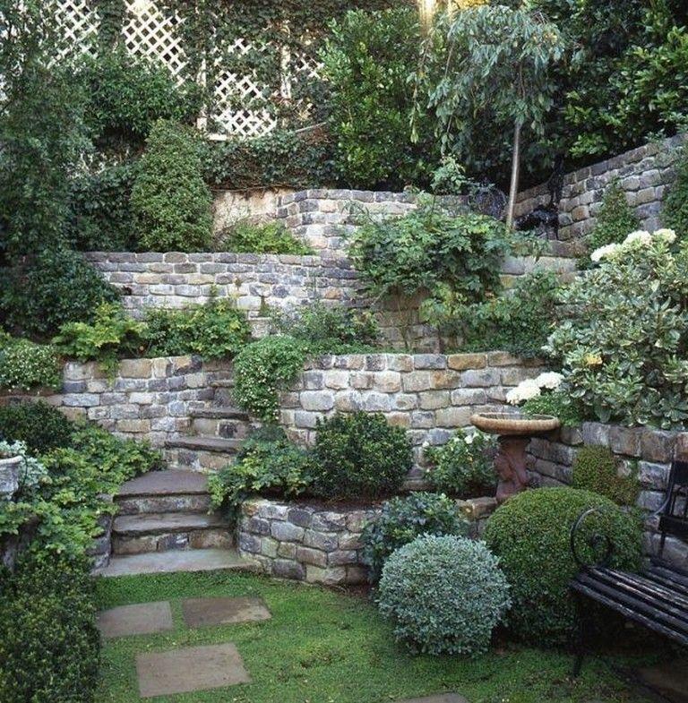 30 Incredible Stone Backyard Gardening Ideas For Inspiration Sloped Garden Backyard Landscaping Garden Design