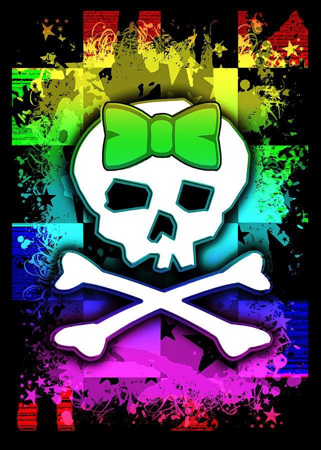 Rainbow Skull By Roseanne Jones In 2021 Skull Artwork Skull Wallpaper Skull Pictures Cool color skull wallpaper