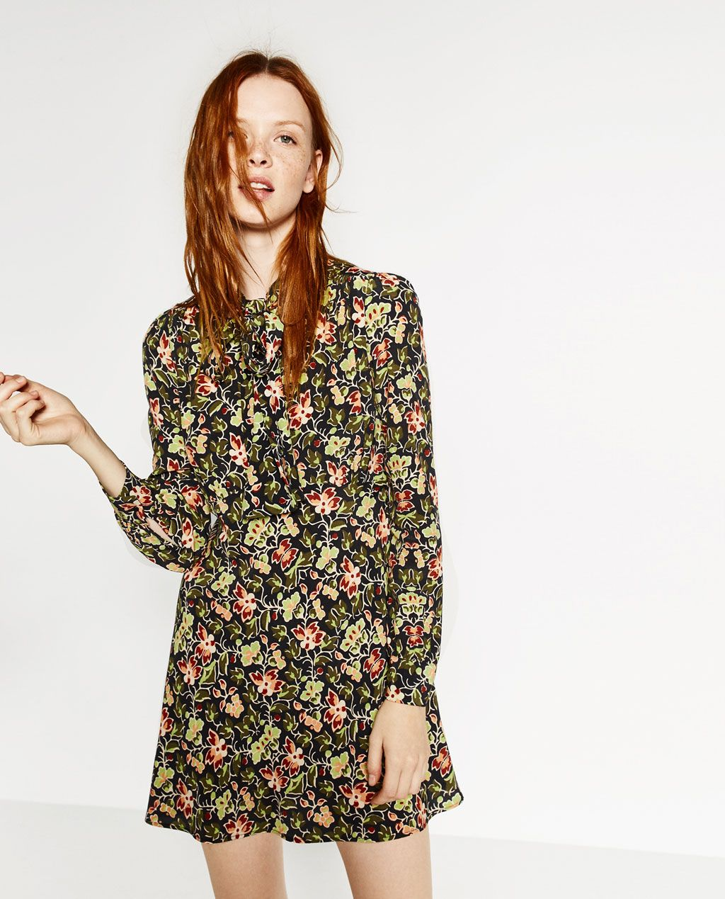 7a1d9029e9944 PRINTED MINI DRESS-DRESSES-WOMAN | ZARA United States | ENGAGEMENT ...