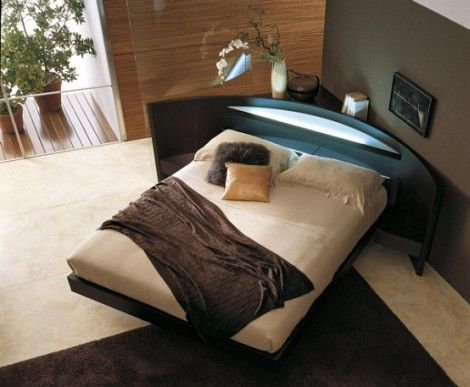 Bedroom Gallery On Contemporary Corner Double Bed With