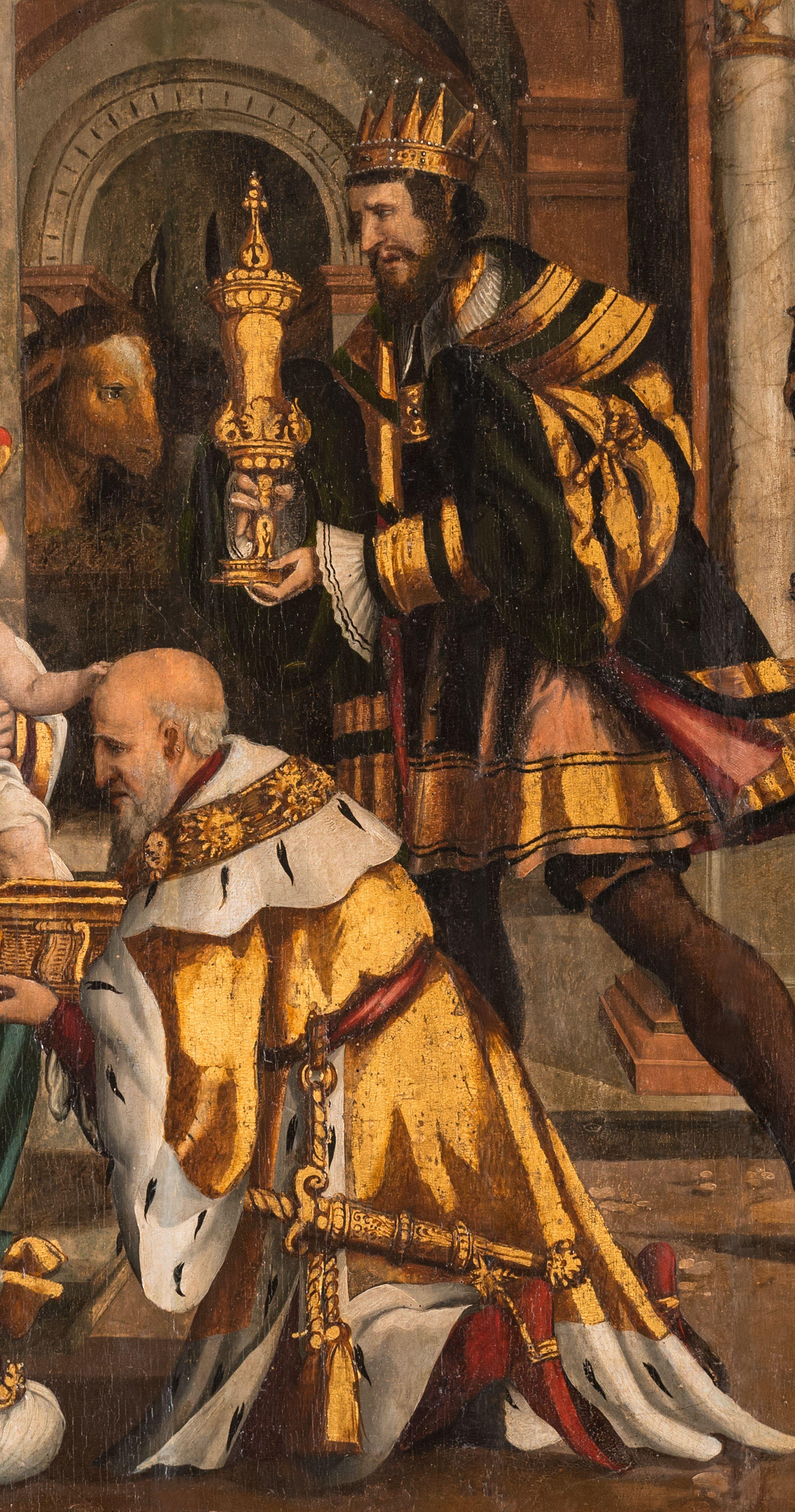 Bartlmä Dill Riemenschneider: (Burgstall-) Adoration of the kings, detail 3, Burgstall, city church (Anbetung durch die Hl. Drei Könige) - Wikipedia.de