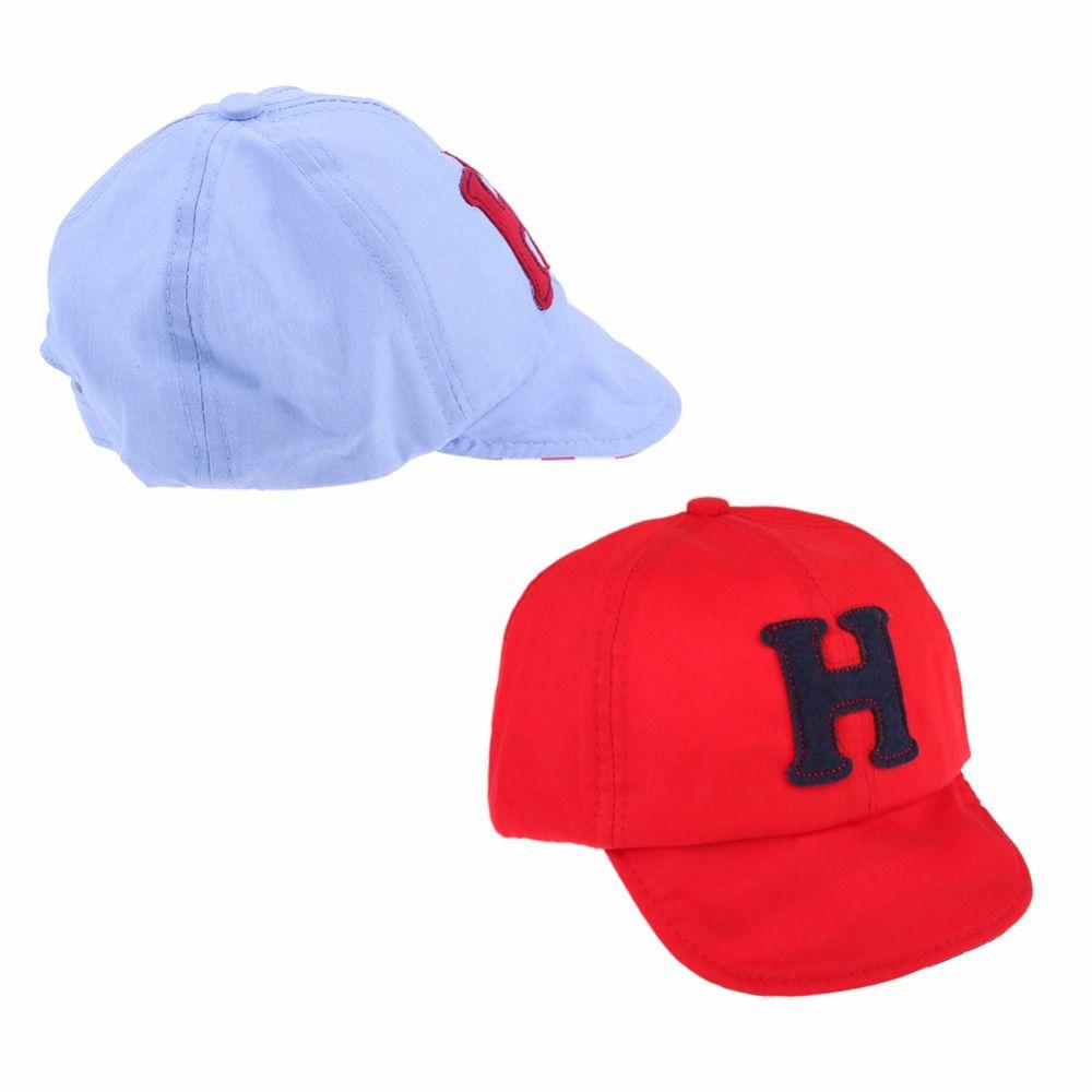 fbd4711e850 Summer Cotton Comfortable Infant Hats Cute Casual H Letter Print Baseball  Cap Baby Boy Beret Baby