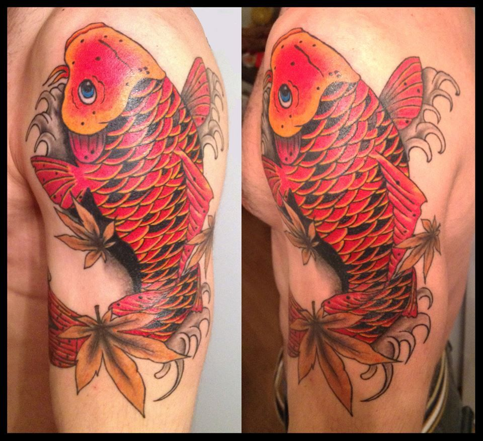 koi fish by SAVCI DEMIRKOL #tattoo #koifish #art #ink #inked ...