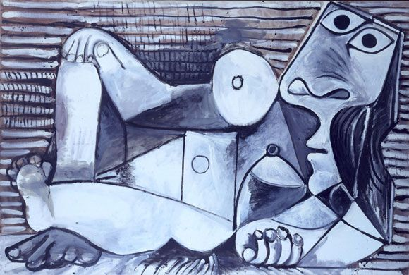 "After seeing the Picasso Black and White Exhibit at The Guggenheim Museum today, I reconfirmed my general lack of awe in the great painter's work but found his ""nude portraits"" oddly charming and playful."
