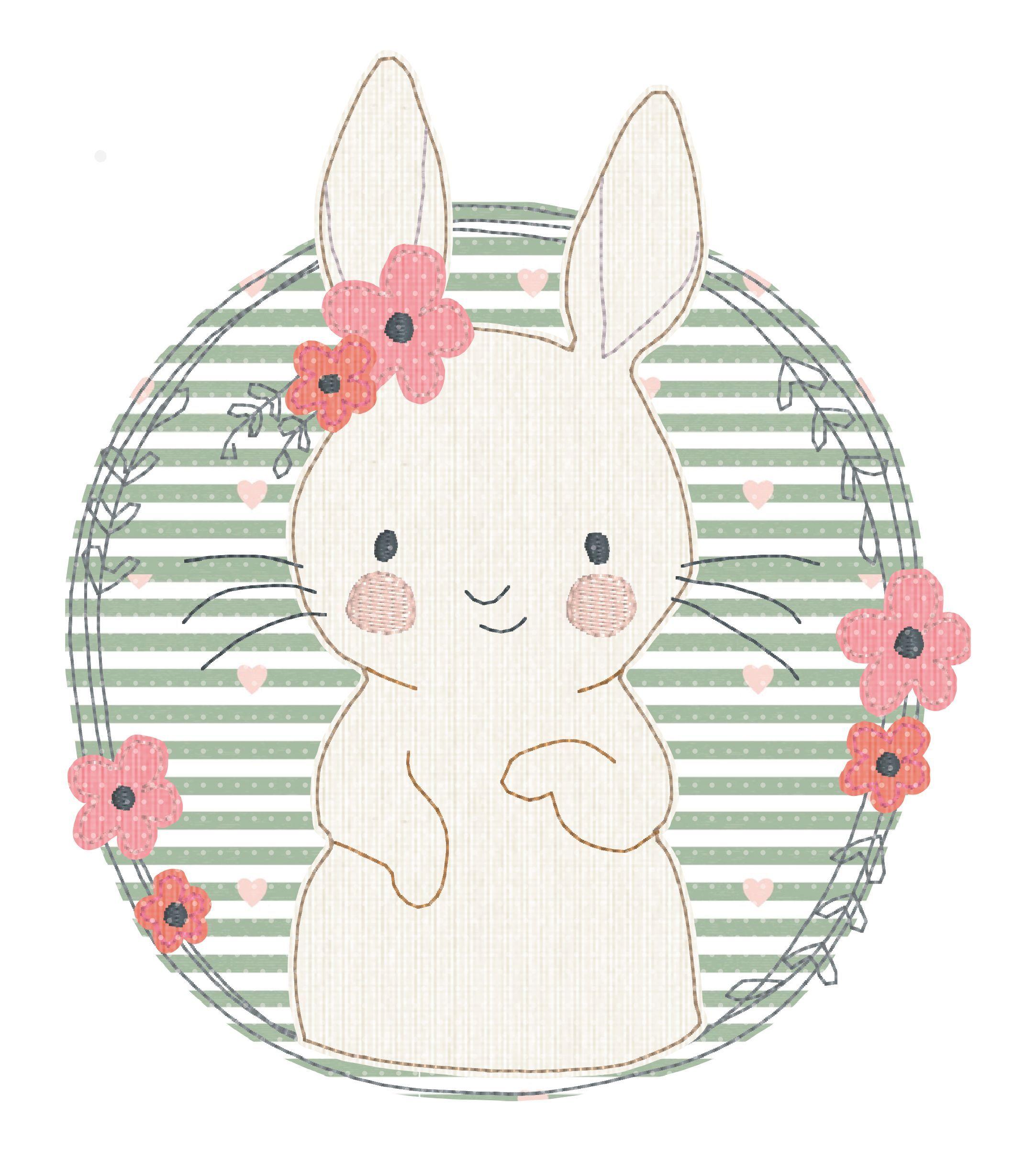 Embroidery File Lulu Floral Wreath Em 2020 Desenhos De Animais