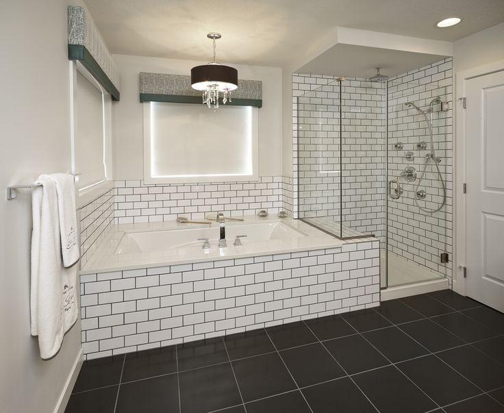 Image result for subway tile surround garden tub