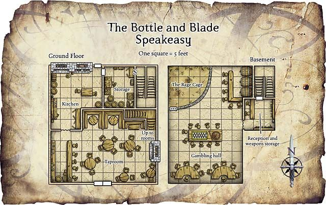 Inn d d maps rpg resource of the day 25 inn and tavern for Floor 2 dungeon map