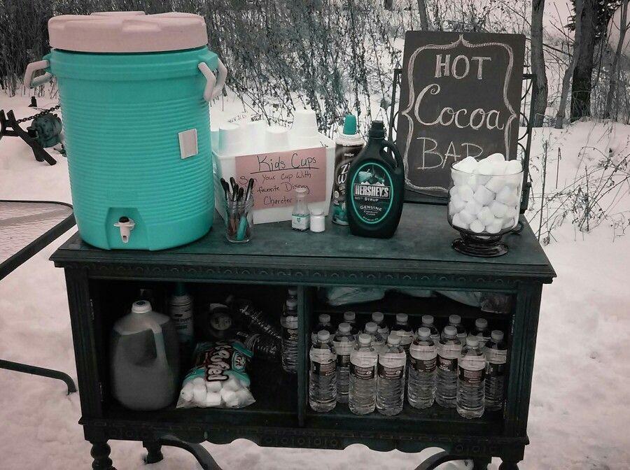 Photo of Winter bonfire party hot cocoa bar. –  Winter bonfire party hot cocoa bar.  – #b…