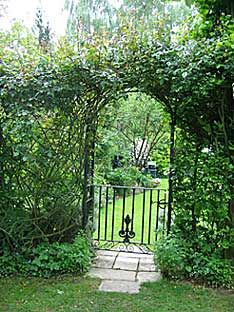 French Garden Wrought Iron Arched Gate Garden Gates Doors And