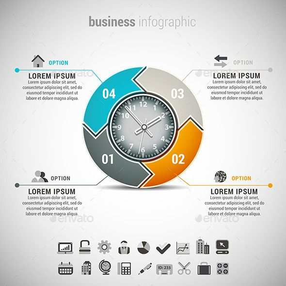 Business Infographic — Photoshop PSD #promotion #step • Available here → https://graphicriver.net/item/business-infographic/11036276?ref=pxcr