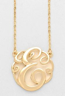 Monogram initial necklace 15 letter e pendant gold chain monogram initial necklace 15 letter e pendant gold chain aloadofball Gallery