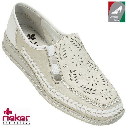 Rieker női bőr cipő 44378-60 bézs kombi  dd2f61a85a