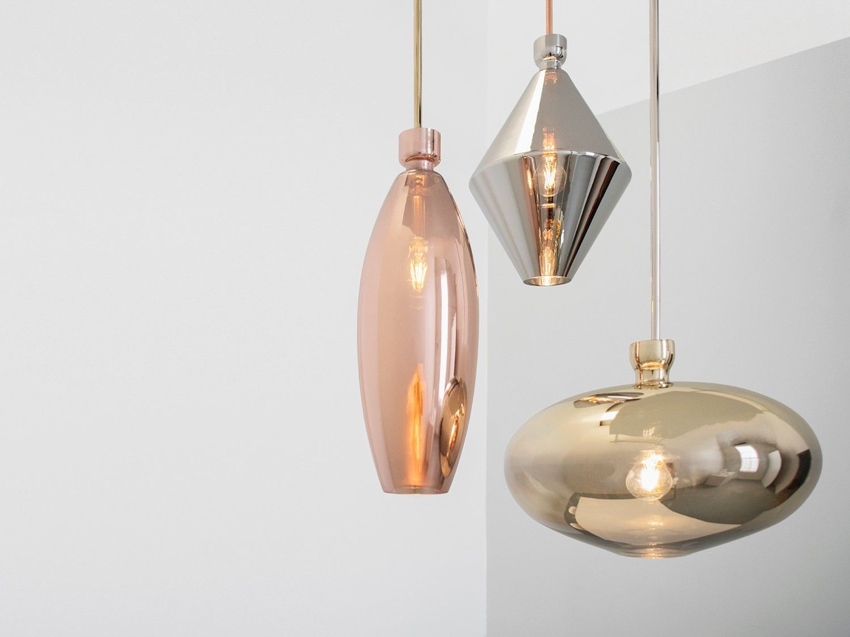 Lampade In Vetro A Sospensione : Lampada a sospensione in vetro soffiato reflect pendant by sklo