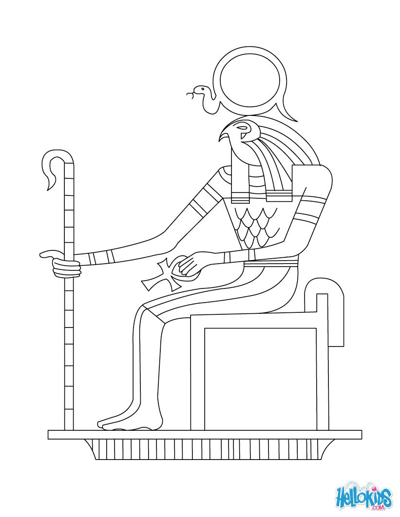 Have Fun Coloring This Egyptian God Ra Coloring Page From Gods And