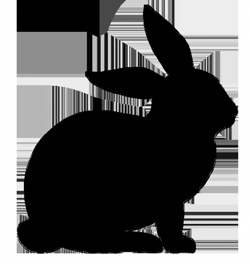 Simple Easter Bunny Silhouette Clip Art Bunny Silhouette Silhouette Clip Art Clip Art