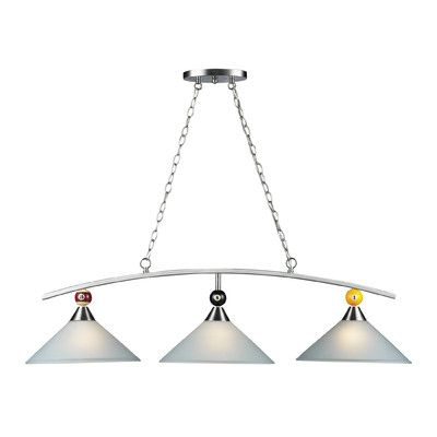 Landmark lighting 66273 3 pendant lights billiards section 3 light pendant