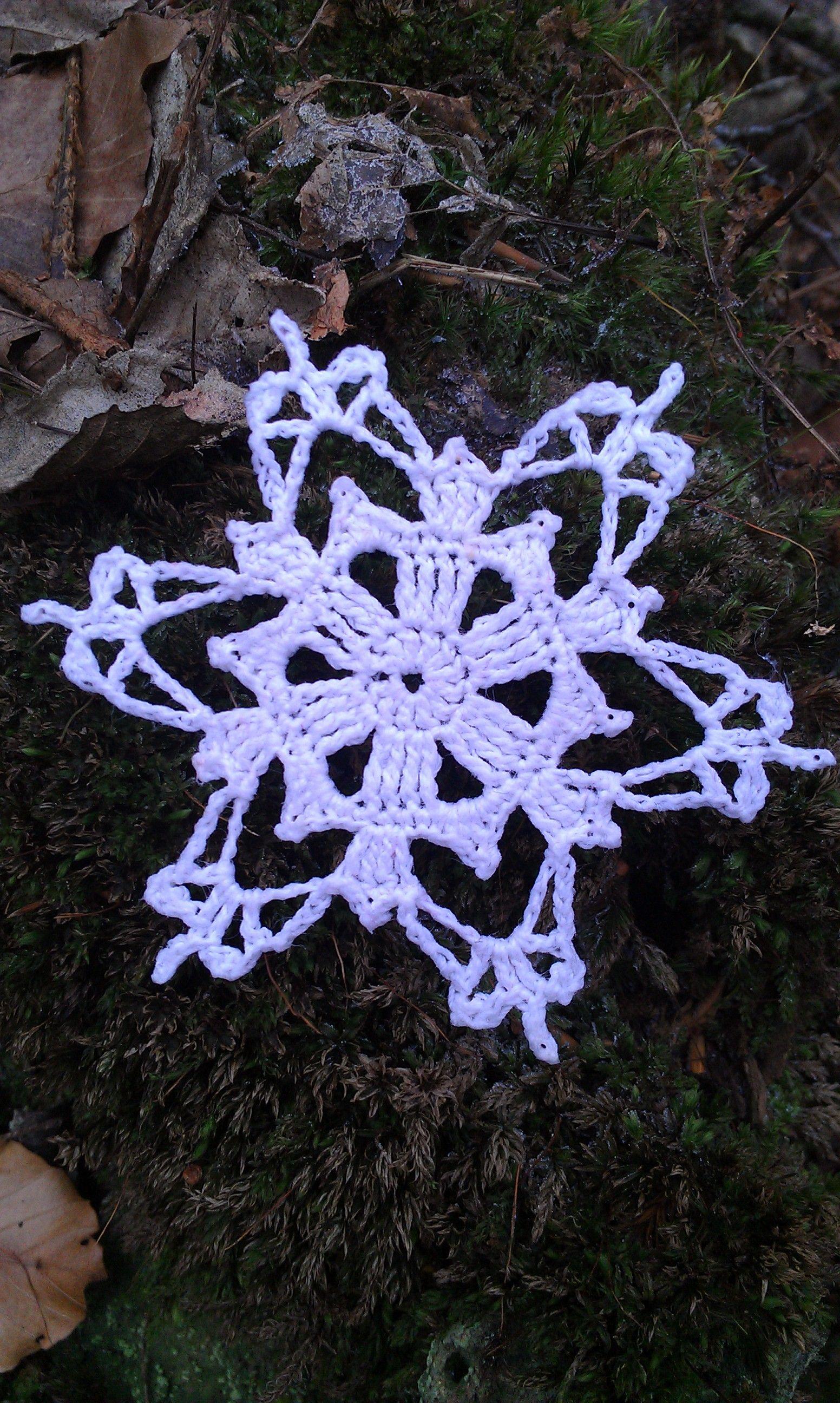 Yeti snowflake | Magic ring, Snowflake pattern and Stitch
