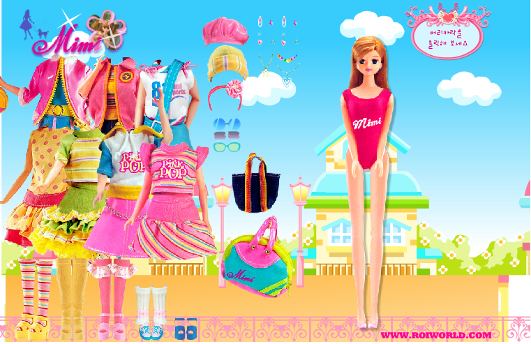Barbie Coloring is a simple colorful dressing game. Dress ...