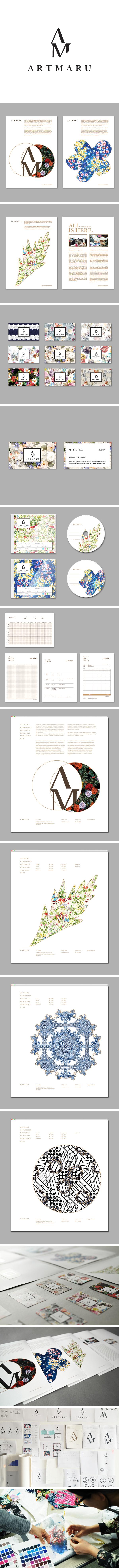 프린트패턴 디자인 회사 아트마루 브랜드   Brand design of pattern design company ARTMARU. www.wvdesign.kr
