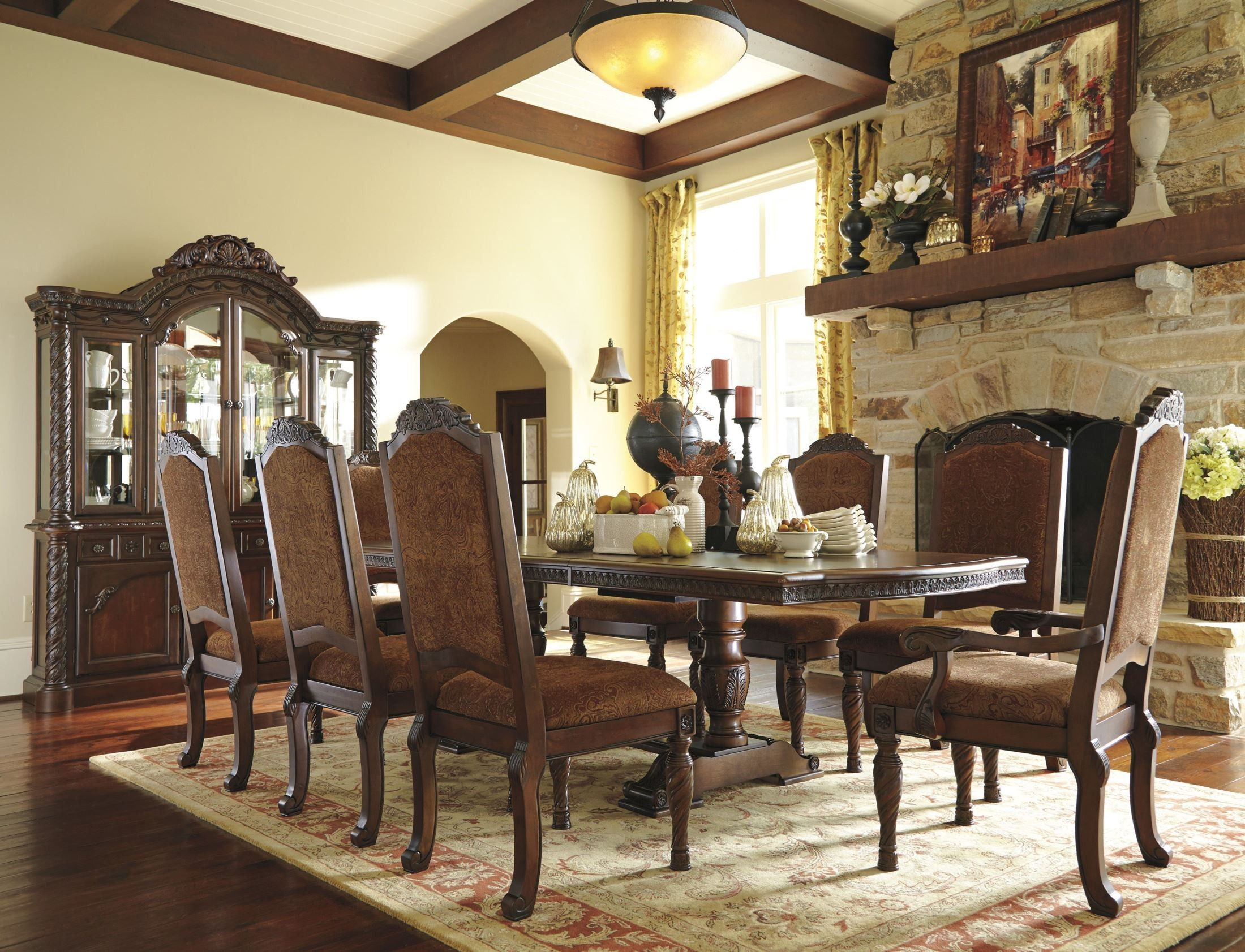 North Shore Double Pedestal Dining Room Set  For The Casa Entrancing Dining Room Sets Ashley Furniture Design Ideas