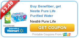 Buy Benefiber, get Nestle Pure Life Purified Water | Coupons