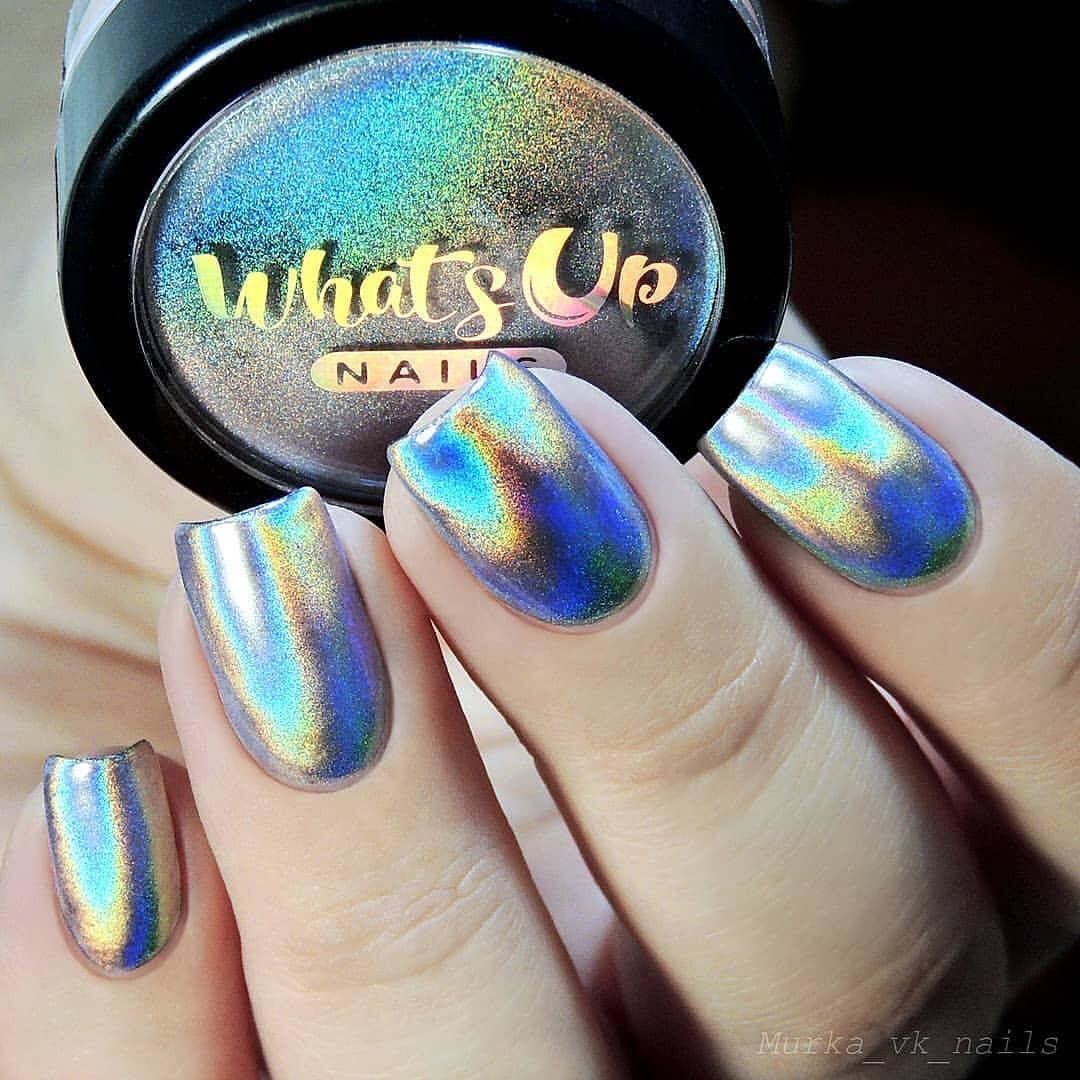 Extra Fine Holographic Chrome Nail Art Powder: Ultra Fine Holographic Nail Powder That Will Make Your