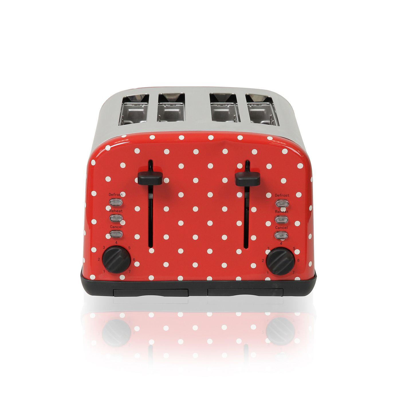 George Home 4 Slice Toaster - Polka Dot | Toasters | ASDA direct ...