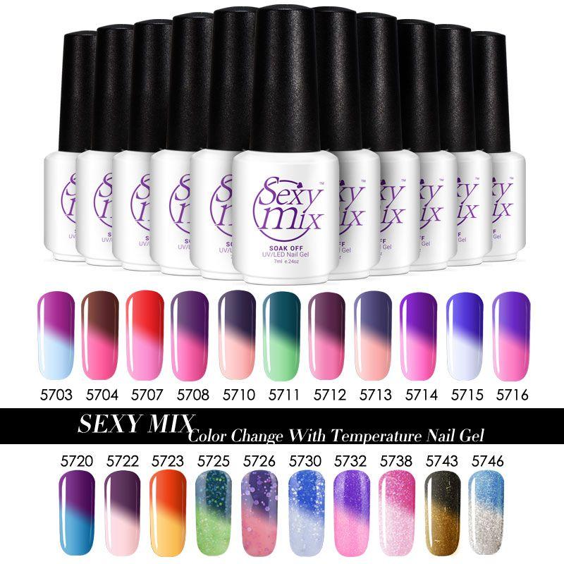 Sexy Mix Temperatura de Cambio de Color de Esmalte de Uñas de Gel UV ...