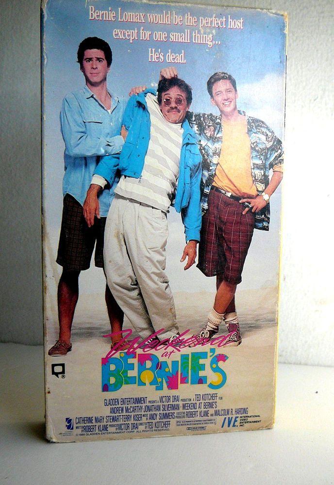 Weekend at Bernie's VHS Videotape Andrew McCarthy Jonathan Silverman SUMMER FUN