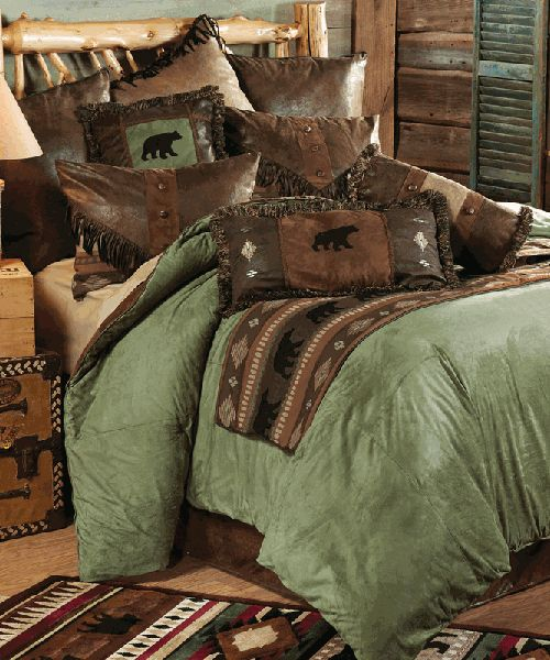 Tapestry Lodge Bear Bedding Set In 2019 For The Home Rustic