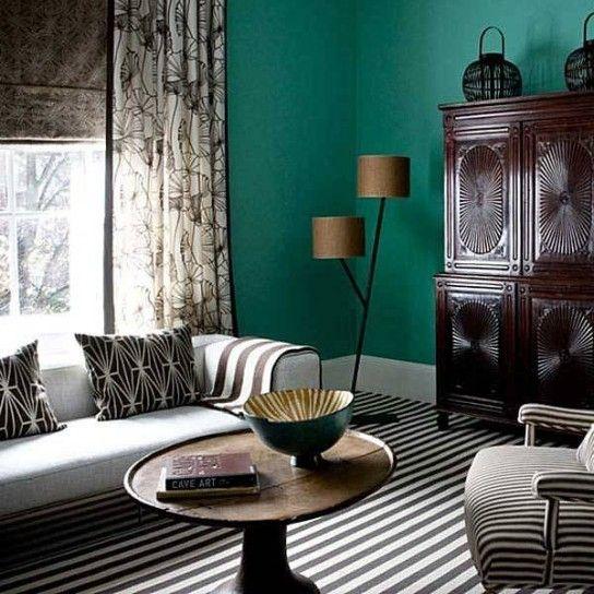 Colori Alle Pareti Foto.Abbinare I Colori Delle Pareti Living Room Salotti Verde