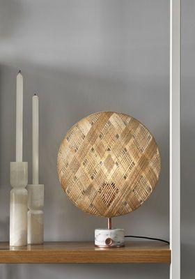 Lampe De Table Chanpen Diamond O 36 Cm Motifs Losanges Forestier Lampes De Table Lampe De Table Blanche Table Lamp