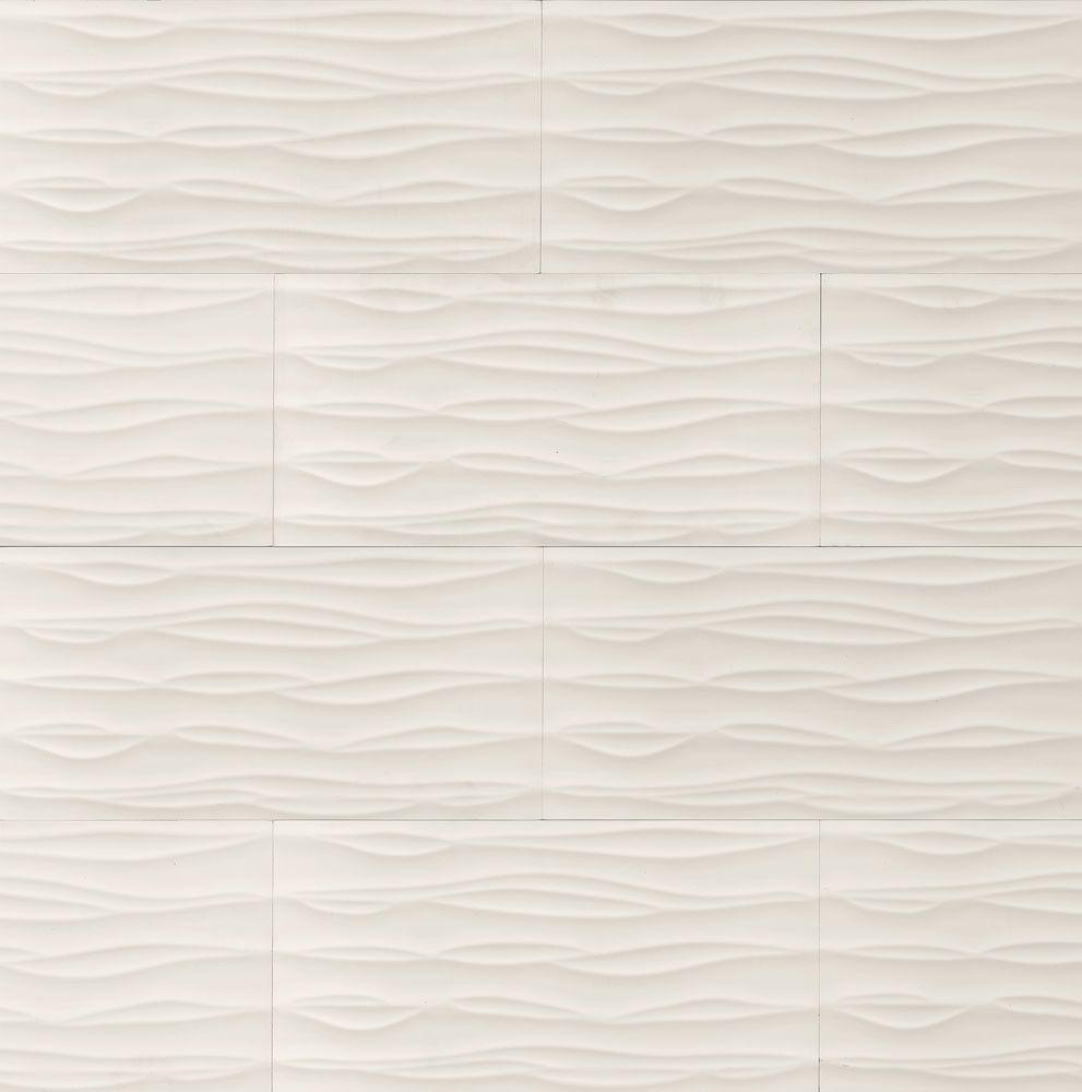 Wave White Porcelain Tile Tcrwavb36w Bedrosians Stone