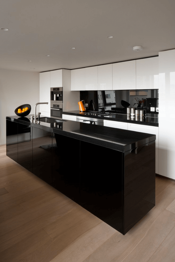 31 Black Kitchen Ideas For The Bold Modern Home Modern Kitchen Design Contemporary Kitchen Design Ultra Modern Kitchen