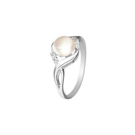 f9823cfe59293 Bague Argent 925 et perle de culture blanche.   Mes-Bijoux ...