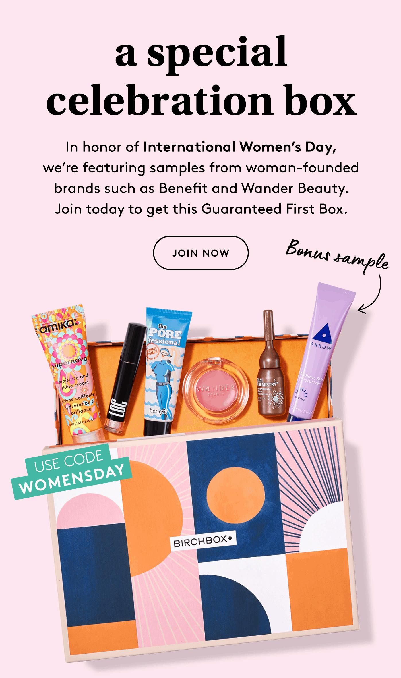 Birchbox in 2020 International womens day, Birchbox