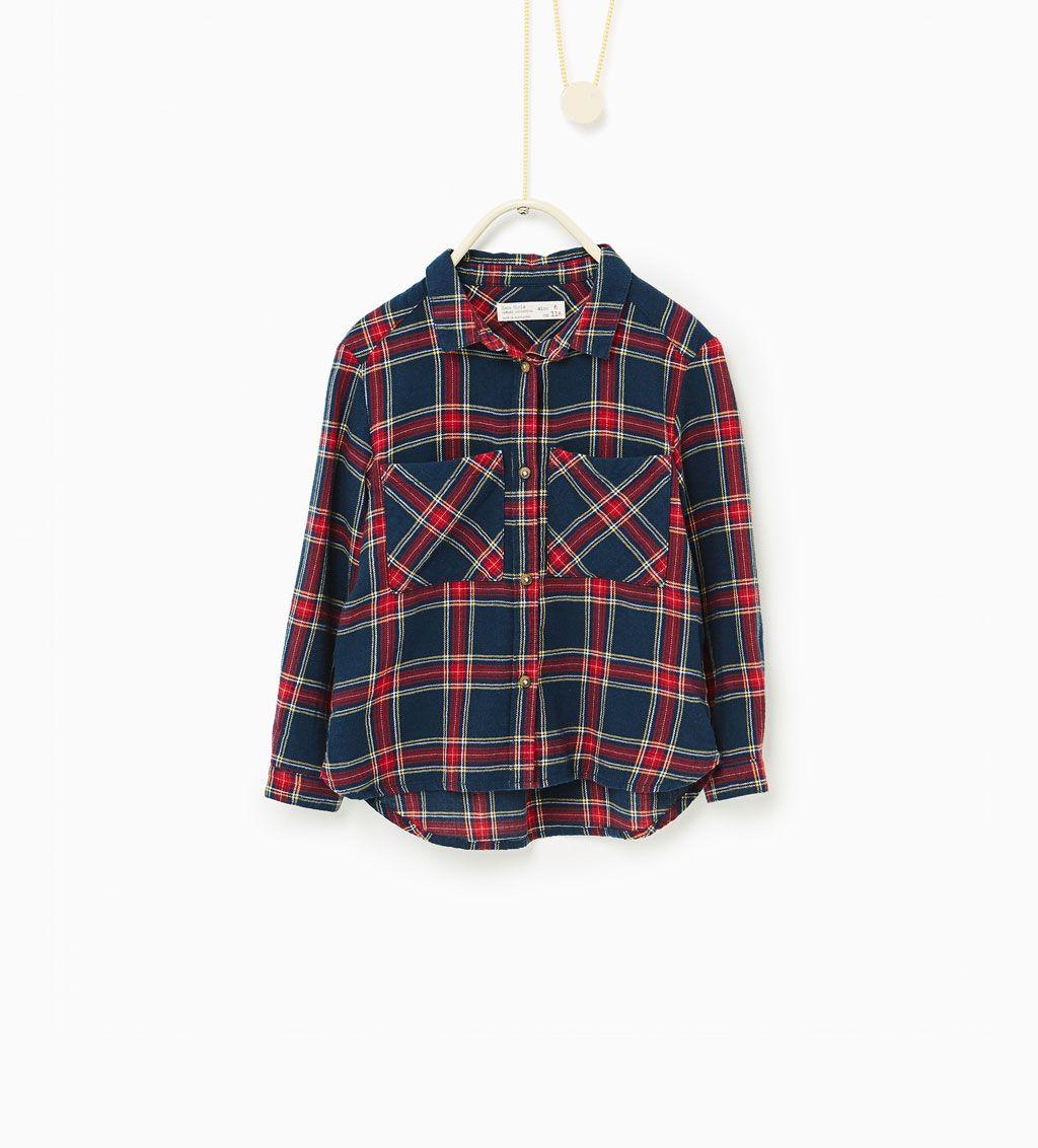 chemise carreaux chemises fille enfants 4 14 ans. Black Bedroom Furniture Sets. Home Design Ideas