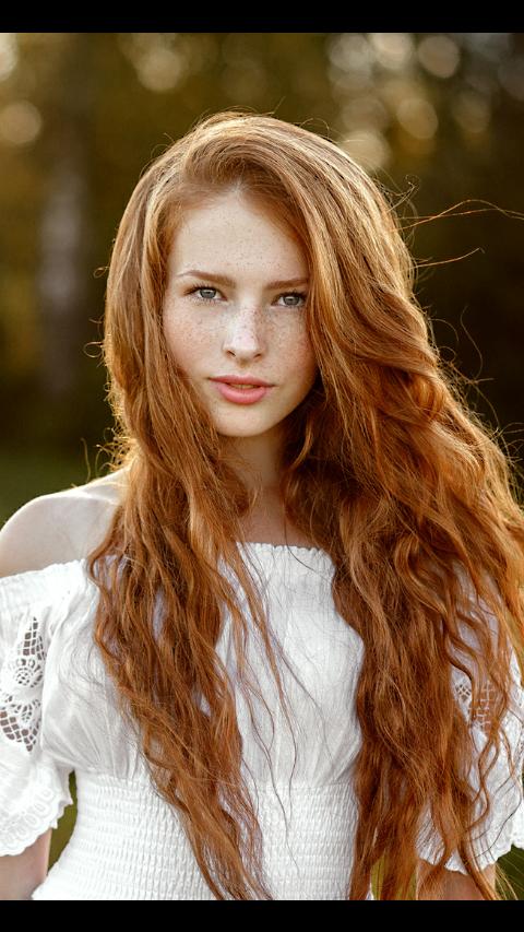 Blonde redhead girl