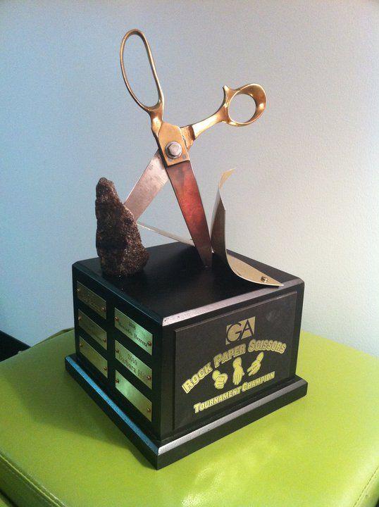 Rock Paper Scissors Trophy