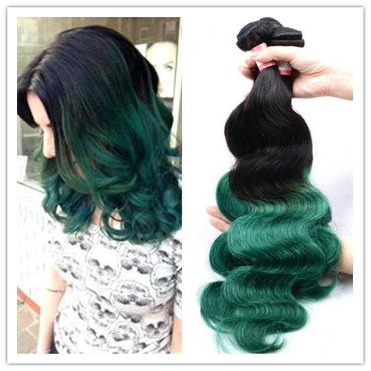 8a Grade Body Wave 100 Virgin Malaysian Human Hair 1bgreen Ombre