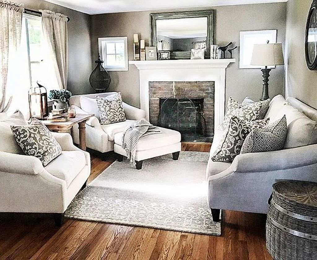 56 Relaxing Small Living Room Decor Ideas With Fireplace ... on Small Space Small Living Room With Fireplace  id=58328