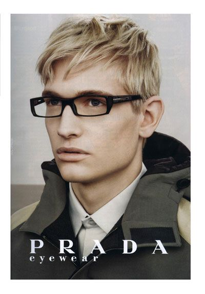 17848ef63e Nick Snider for Prada Eyewear. | Ragz | Eye glasses, Eyewear, Mens ...