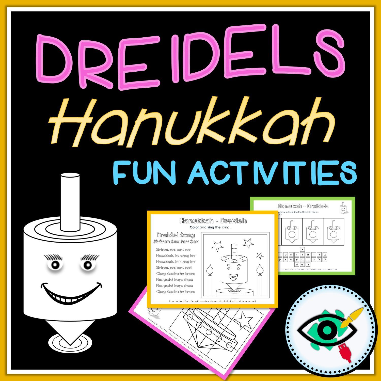 Hanukkah Educational Activity Pack Dreidels