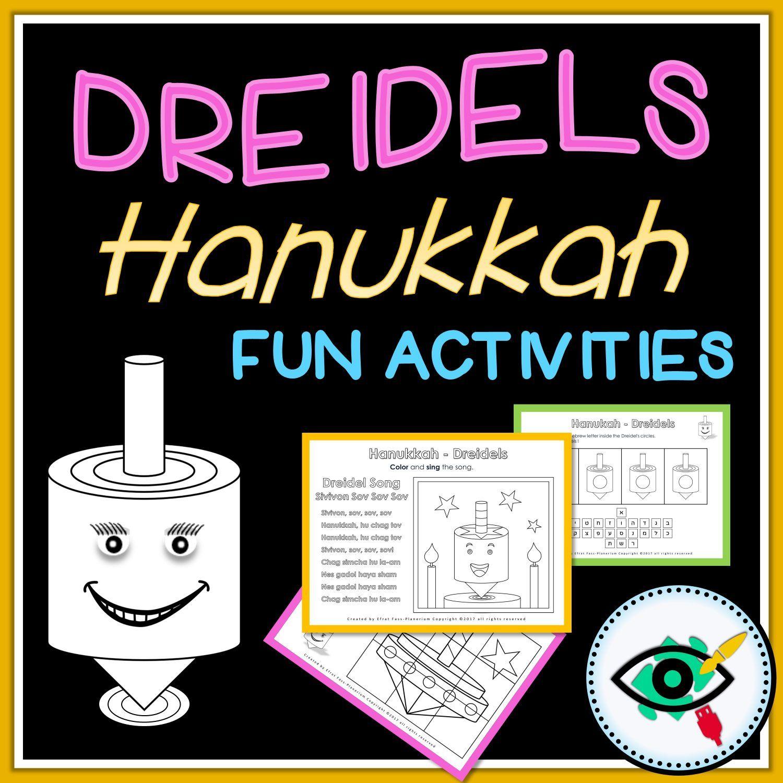 Hanukkah Educational Activity Pack Dreidels