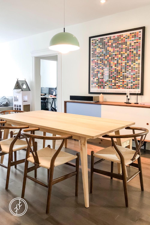 Table Scandinave En Bois Massif In 2020 Home Decor Furniture Table