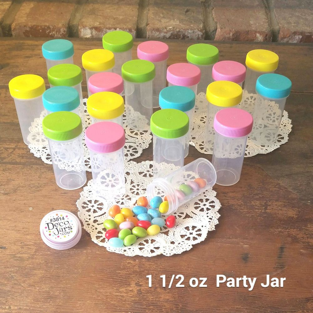20 Pill Bottles Candy JARS Springtime Easter Caps Party favors 3814 DecoJars USA #DecoJars