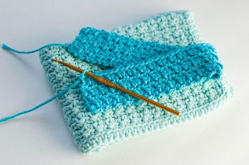 Crochet Kitchen Towel Pattern | Thrifty Below | Crochet ...