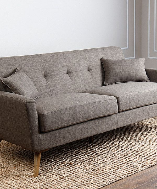 khaki linen nancy sofa  living room redo comfortable
