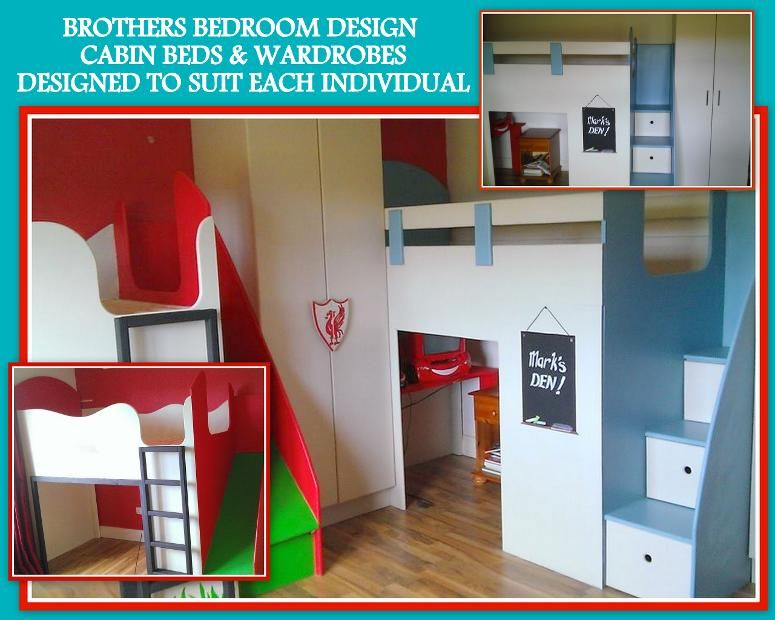 Football Bed And Den Bed With Matching Wardrobes Slide And Storage