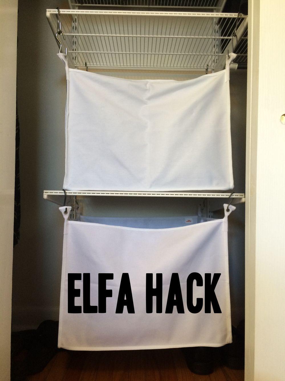 Container Store Elfa Hack Elfa Container Store Closet